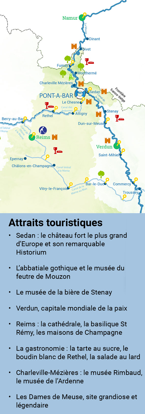 Tourist attractions in the Ardennes